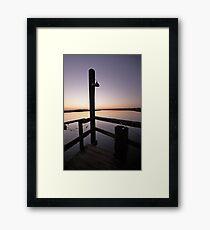 From the Dock near Folly Beach, SC Framed Print