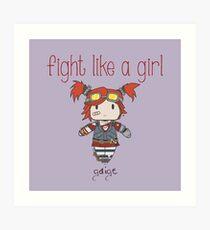 Fight Like a Girl | Robot Maker Art Print