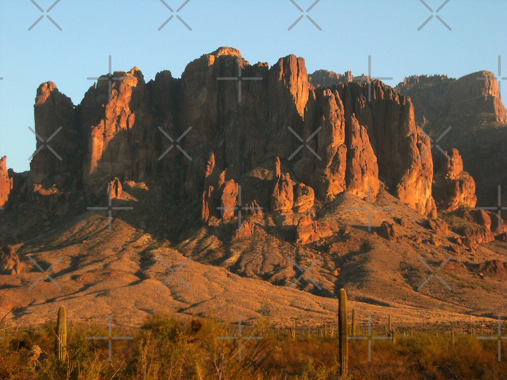 The Superstitions at Dusk by Shiva77