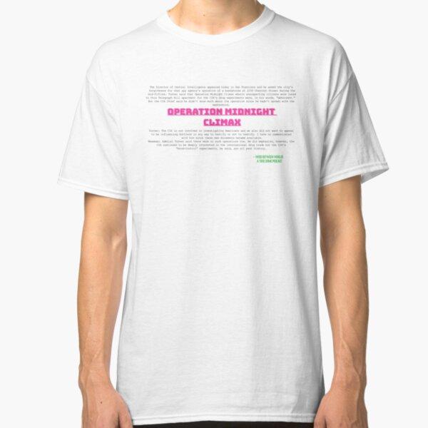Operation Midnight Climax - Black Text Classic T-Shirt