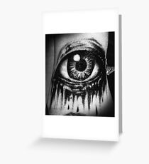 A dead eye Greeting Card