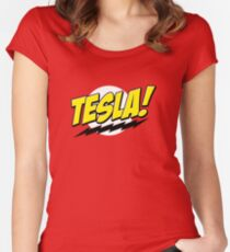 Tesla! Women's Fitted Scoop T-Shirt