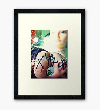 Fate of the Two-Faced Framed Print