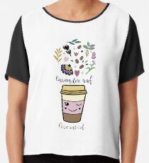 Lavender raf Chiffon Top
