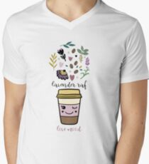 Lavender raf V-Neck T-Shirt
