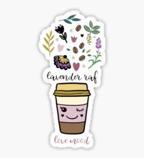 Lavender raf Glossy Sticker