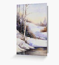 Watercolour winter scene Greeting Card