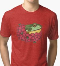 Frog and Cranberries it Must be Fall Tri-blend T-Shirt
