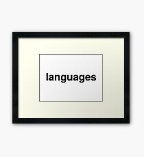 languages Framed Print