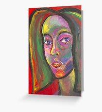 MULTI-COLORED SELF PORTRAIT Greeting Card