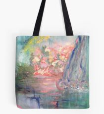 ABSTRACT FLORAL LANDSCAPE Tote Bag