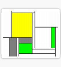 Faux Mondrian August Sticker