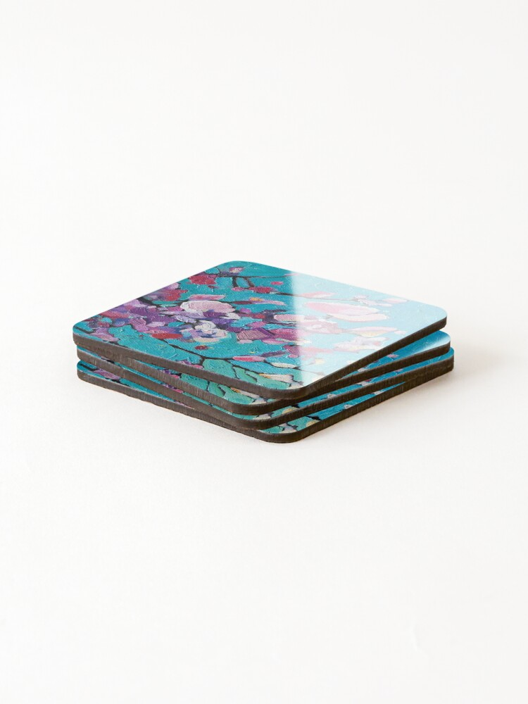 Alternate view of Cherry Blossoms Coasters (Set of 4)