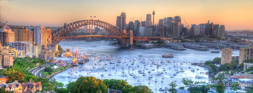 La Stupenda - Sydney Harbour, Sydney  Australia - The HDR Experience by Philip Johnson