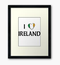 I Love Ireland Framed Print