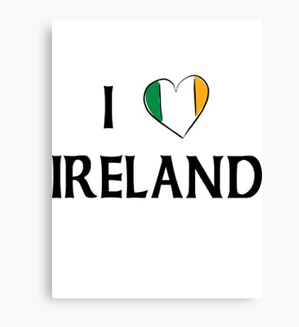 I Love Ireland Canvas Print