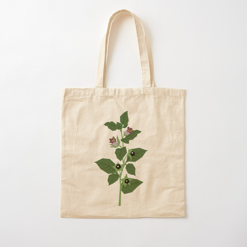 Deadly Nightshade Cotton Tote Bag