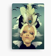 Lady Swallow Canvas Print