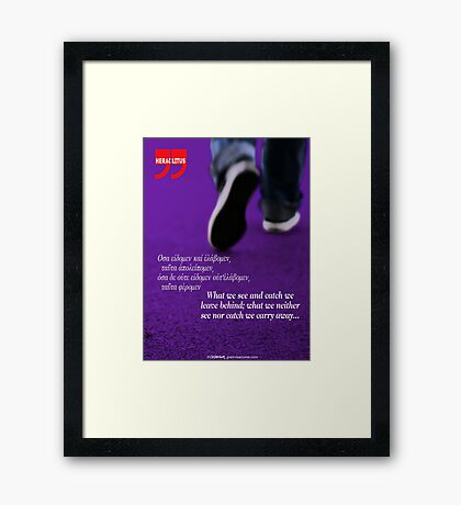 We are driven by curiosity & dreams (quote) Framed Print