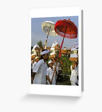 Procession, Bali Greeting Card