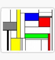 Faux Mondrian September Sticker