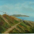 Lambay from Cliff Walk by Geraldine M Leahy