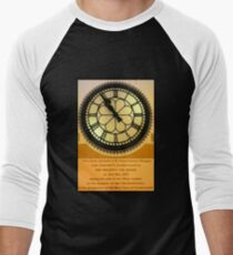 The Clock in the Plaza Men's Baseball ¾ T-Shirt