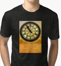 The Clock in the Plaza Tri-blend T-Shirt