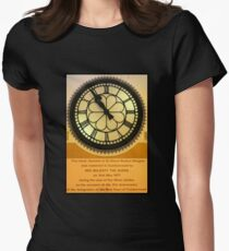The Clock in the Plaza Women's Fitted T-Shirt
