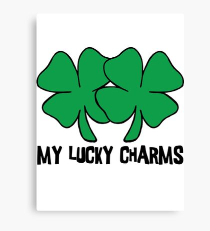 "Irish ""My Lucky Charms"" Women's Canvas Print"