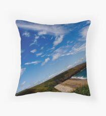 Love Beach in the Summer Throw Pillow