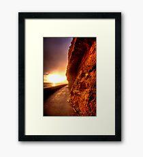 Cliff of Sand Framed Print