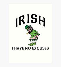 Funny Irish Art Print