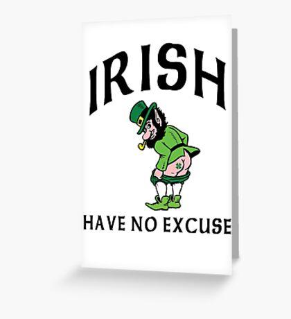 Funny Irish Greeting Card