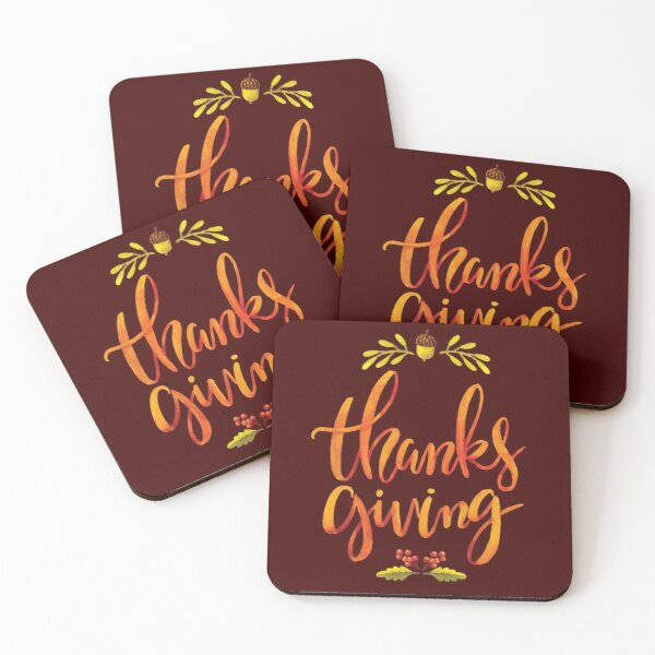 Thanks Giving Coasters (Set of 4)