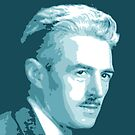 Dashiell Hammett Blue Portrait von savantdesigns