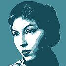 Clarice Lispector Blue Portrait von savantdesigns