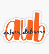 AUB Auburn, Alabama Design  Sticker