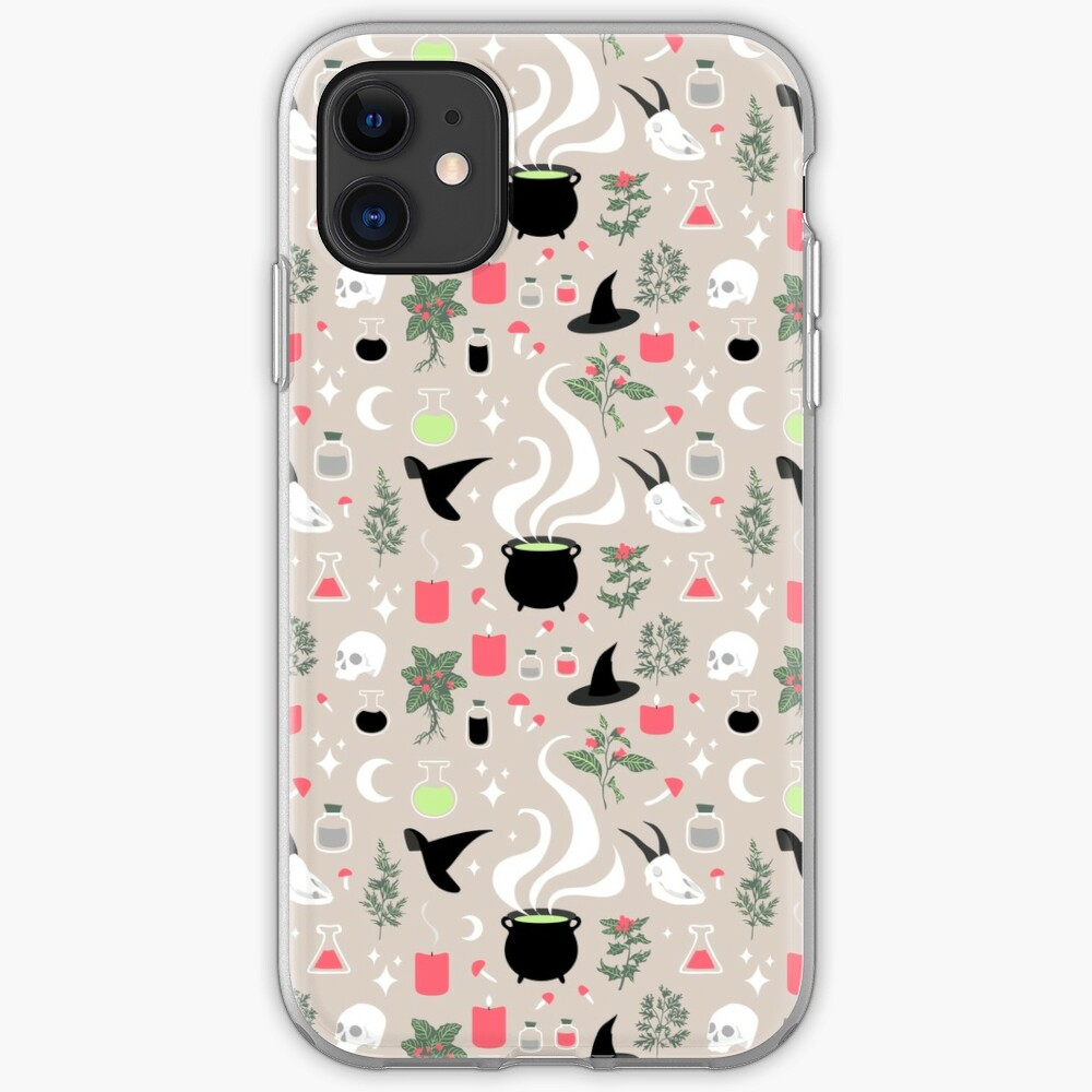 Witchy Pattern - Light iPhone Soft Case