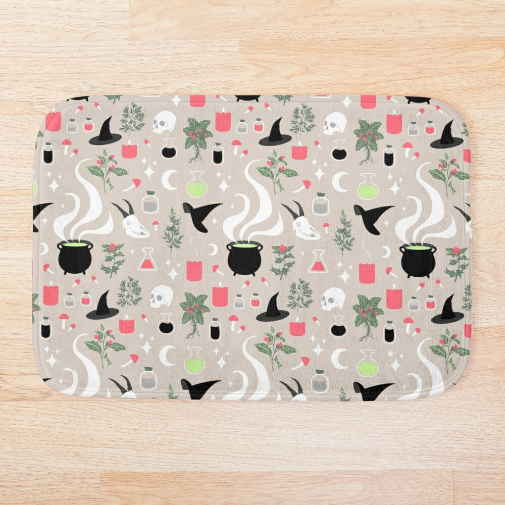 Witchy Pattern - Light Bath Mat