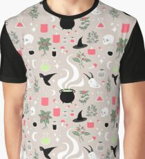 Witchy Pattern - Light Graphic T-Shirt