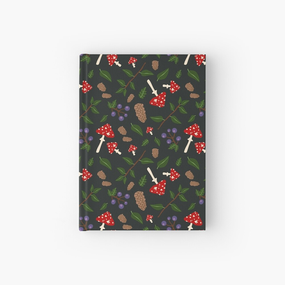 Forest Pattern Hardcover Journal