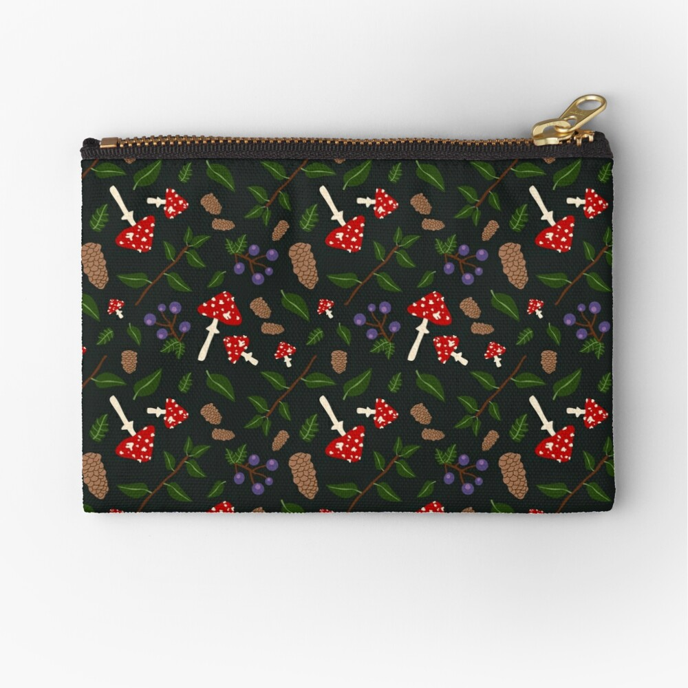 Forest Pattern Zipper Pouch