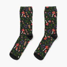 Forest Pattern Sock