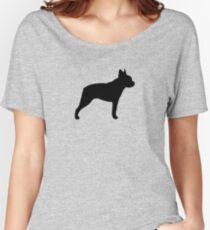 Boston Terrier Silhouette (n) Baggyfit T-Shirt