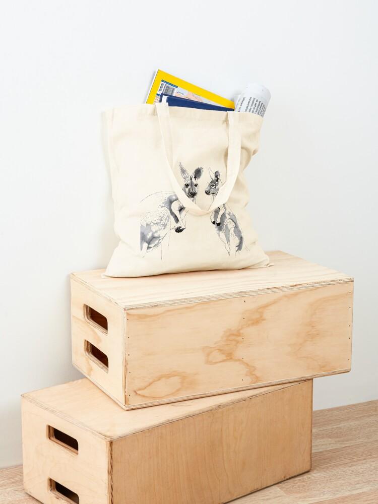 Alternate view of Kangaroos Black and White Tote Bag