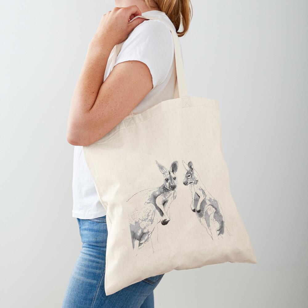 Kangaroos Black and White Tote Bag