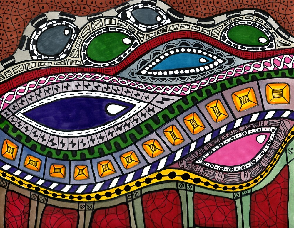 Zentangle Gemstones by mintdawn