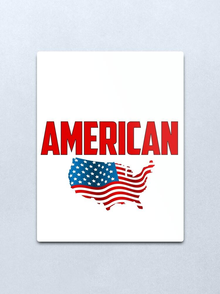 Alternate view of American Made Metal Print