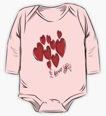 Love Hearts  One Piece - Long Sleeve